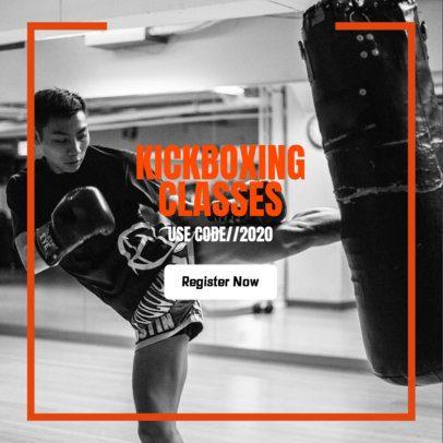 Sports Banner Maker for Kickboxing Classes 362n 2068