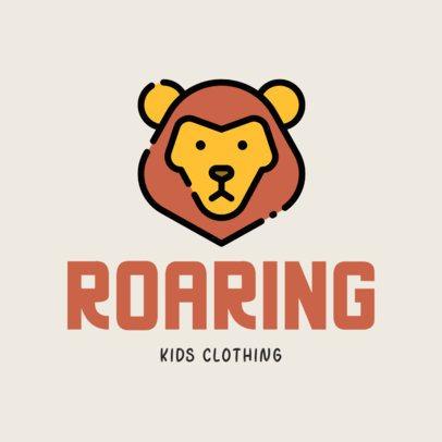 Kid's Clothing Logo Creator Featuring a Cute Lion 305c-el1