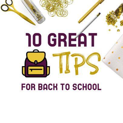 Pinterest Banner Template for Back to School Tips 480-el1