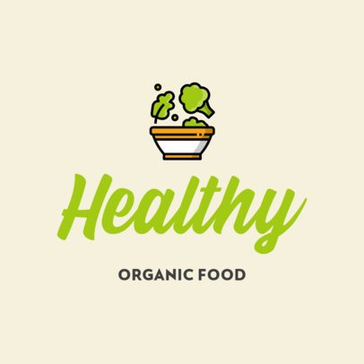 Logo Template for an Organic Food Restaurant 315-el1