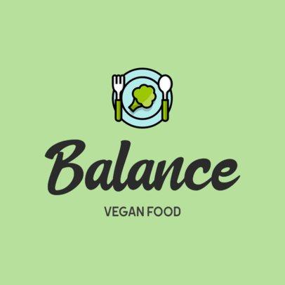 Vegan Restaurant Logo Creator with a Healthy Food Icon 315c-el1