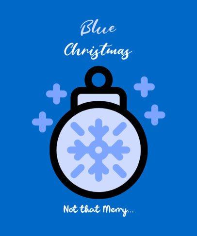 T-Shirt Design Creator for the Christmas Blues 308c-el1