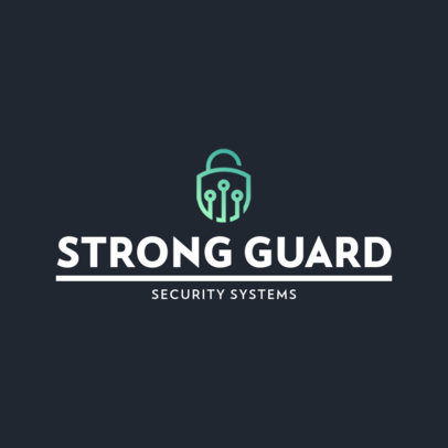 Simple Logo Template for a Security Systems Company 453-el1