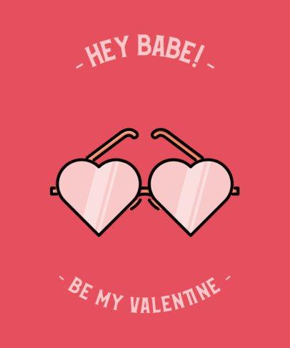 T-Shirt Design Maker Featuring Valentine's Illustrations 491-el1
