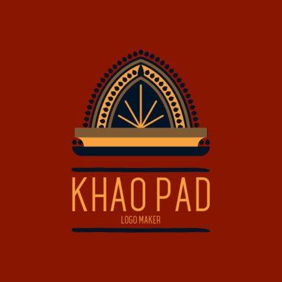 Online Logo Generator for Thai Restaurants 1838e 2834