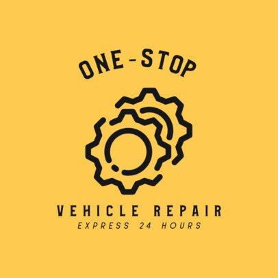 Car Repair Logo Maker with Gear Icons 462a-el1