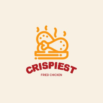 Fried Chicken Restaurant Logo Template 457b-el1