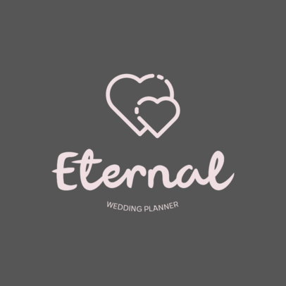 Wedding Planner Logo Template with Heart Graphics 440b-el1