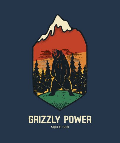T-Shirt Design Maker with Retro Camp Badges Illustrations 207-el1