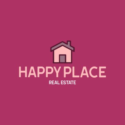 Real Estate Logo Template Featuring a House Icon 260b-el1
