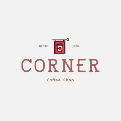 Cafe Logo Maker with a Coffee Shop Sign 501b-el1