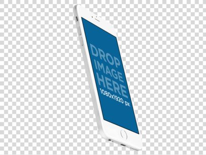 Angled Floating iPhone 6 Plus Mockup Over a Transparent Background