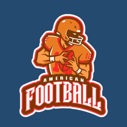 Sports Logo Maker with a Strong Football Player Icon 29k-2862