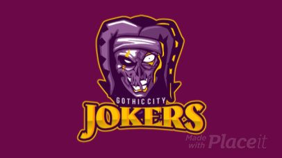Animated eSports Logo Generator Featuring an Evil Joker Illustration 1750t 2361