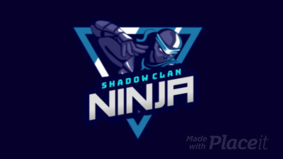 Animated Gaming Logo Generator with a Ninja Character 1747b