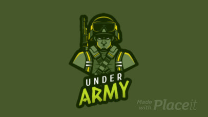 Animated Sniper Soldier Graphic Logo Maker 1747m-2286