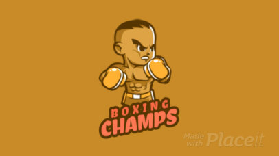 Animated Gaming Logo Generator with a Boxing Athlete 1872b