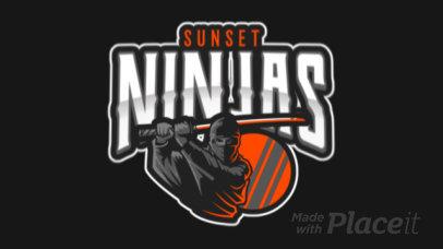 Gaming Logo Maker Featuring an Animated Ninja at Sunset 120i-2318