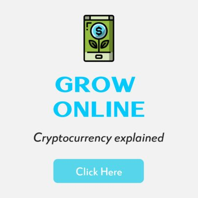 Banner Maker for a Cryptocurrency Online Course 428a-el1