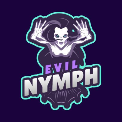 Fortnite-Inspired Fantasy Logo Maker with an Evil Nymph 2407a-2861