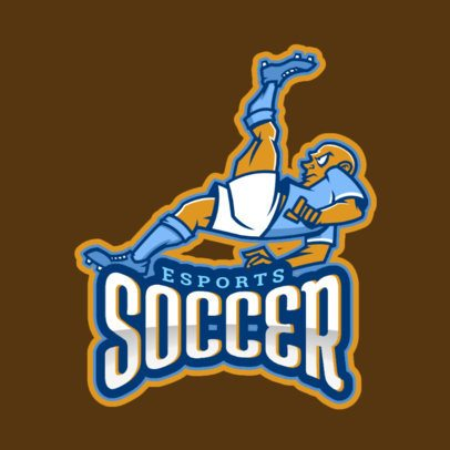 Soccer Logo Template Featuring a Male Football Player 1748f-2861