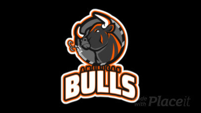 Animated Gaming Logo Template Featuring a Bull Clipart 21m - 2339