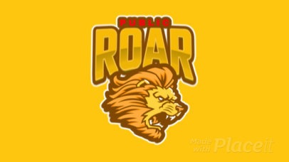 Animated Gaming Logo Generator Featuring a Roaring Lion Graphic 484g-2333