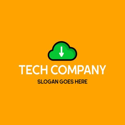 Logo Maker for a Tech Company Featuring a Cloud Graphic 549b-el1