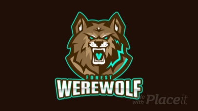 Animated Sports Logo Maker Featuring a Furious Werewolf 1877g-2861