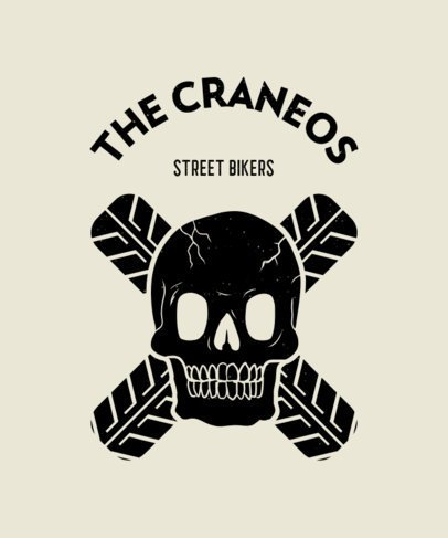 T-Shirt Design Generator for Street Bikers With a Skull Illustration 2134b