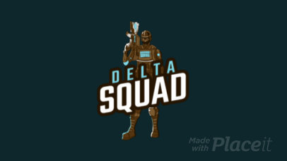Animated Logo Template with an Armed Soldier Graphic 1847m-2861