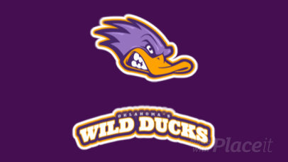 Animated Sports Team Logo Creator Featuring a Wild Duck Graphic 21p-2861