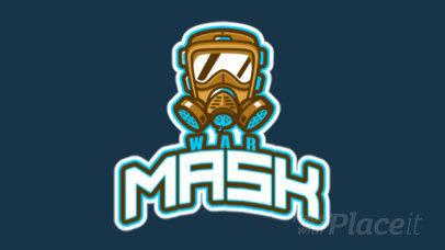 Animated Rainbow Six Siege-Inspired Logo Maker Featuring an Illustrated Toxic Mask 2663p-2861