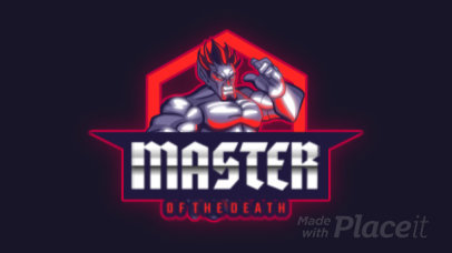 Animated Fighting Game Team Logo Maker with an Evil Character 2718j-2862