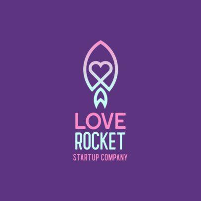 Dating App Logo Generator Featuring a Rocket Icon 556a-el1