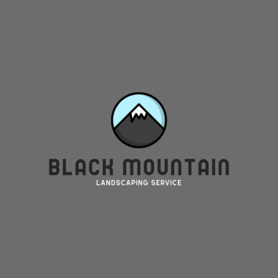 Landscaping Services Logo Creator with a Mountain Clipart 557a-el1