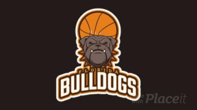 Basketball Team Animated Logo Maker with a Bulldog Clipart 21s-2860