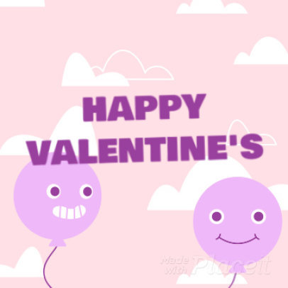Valentine's Day-Themed Instagram Video Maker Featuring Cute Animated Balloons 2027