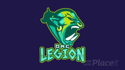 Animated Gaming Logo Template Featuring an Angry Orc Graphic 1750v-2856