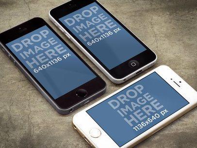iPhone 5s Dark Portrait, iPhone 5c White Portrait & iPhone 5s Gold Landscape