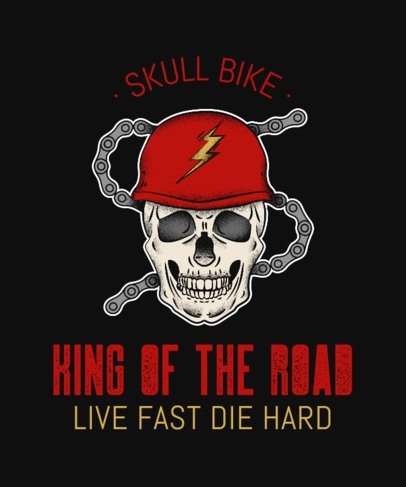 T-Shirt Maker for a Biker Club with a Skull Graphic 2132g