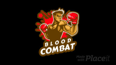 Animated Logo Generator for Combat Games Featuring a Fighter Illustration 1847p-2857