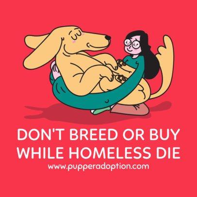 Instagram Post Template for a Pet Adoption Center 2118d 2144