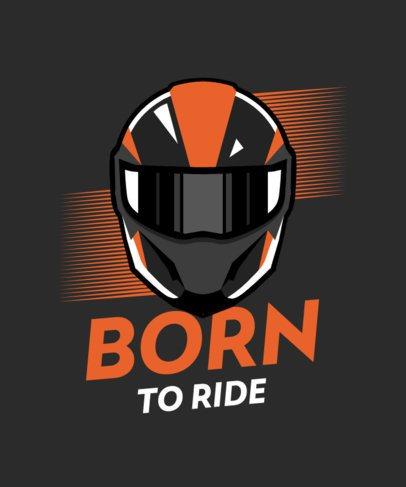 Bikers T-Shirt Design Maker Featuring a Helmet Graphic 2133c
