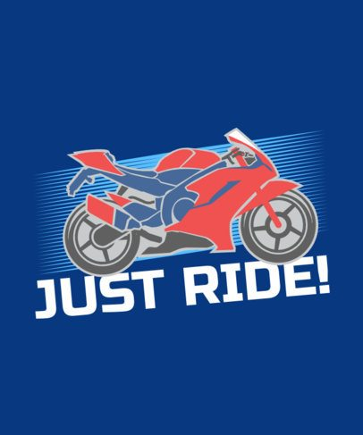 T-Shirt Design Maker Featuring a Motorcycle Graphic 2133e