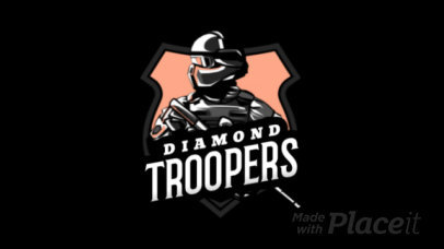Animated Gaming Logo Generator Featuring an Elite Force Soldier Illustration 1743s-2857