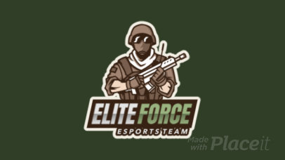 Animated Gaming Logo Creator with a Masked Soldier Character 2754u-2859