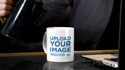 11 oz Mug Video of a Man Pouring a Hot Drink While Working 31582