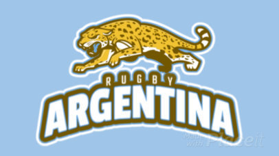 Rugby Team Animated Logo Maker 1616a