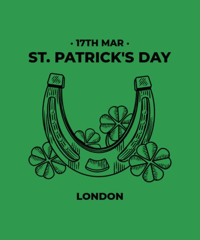 T-Shirt Design Maker Featuring St Patricks Day-Related Graphics 2168